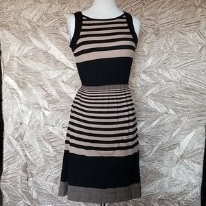 Coldwater Creek striped brown and black dress